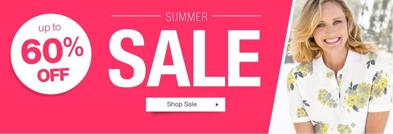 Damart: Summer Sale up to 60% off clothing, shoes, lingerie & nightwear