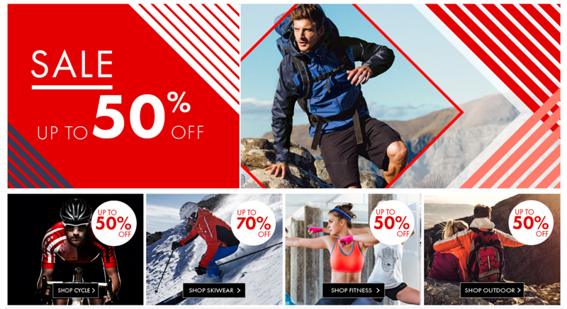 Dare2b: Sale up to 50% off ski, cycle and outdoor clothing