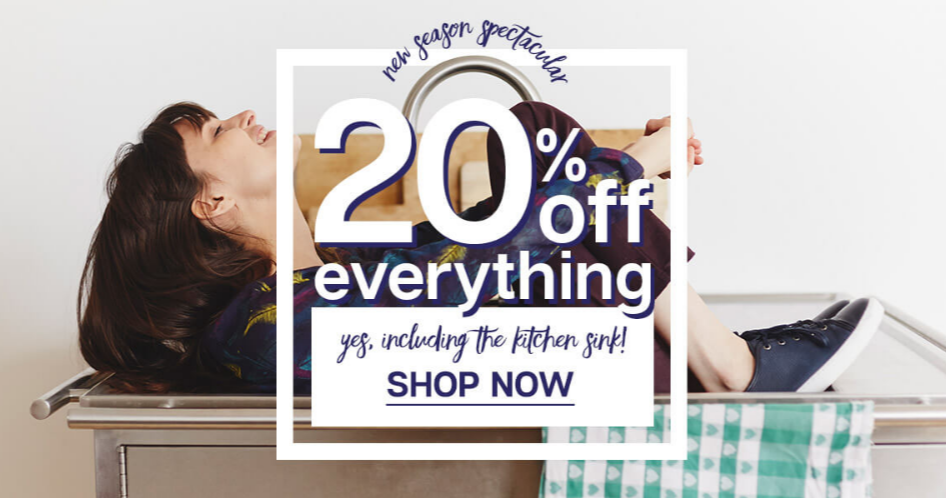 Dash: 20% off everything from new season
