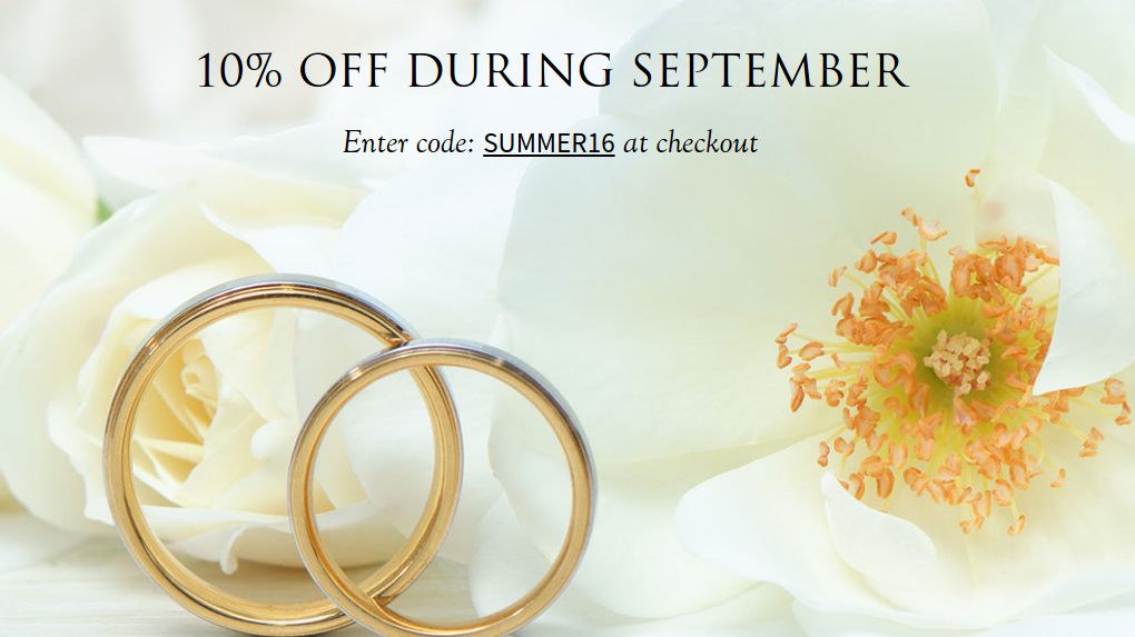 Diamonds Factory: 10% off during September