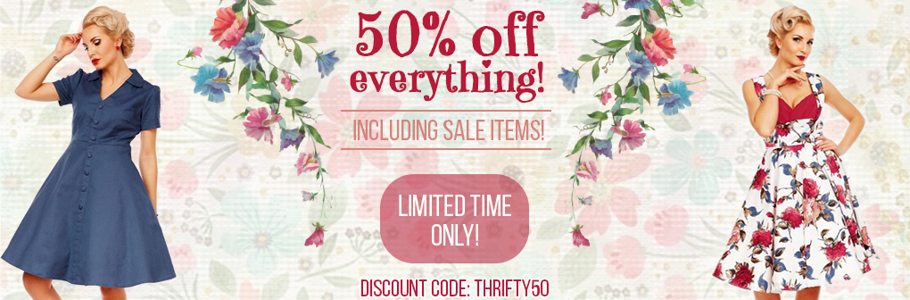 Dolly and Dotty: 50% off women's fashion