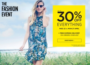 Dorothy Perkins: up to 30% off