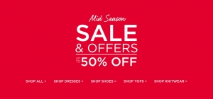 Dorothy Perkins: Mid Season Sale up to 50% off