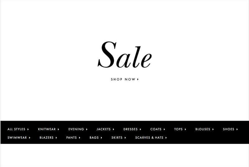 Escada: Sale up to 50% off clothing, shoes and accessories