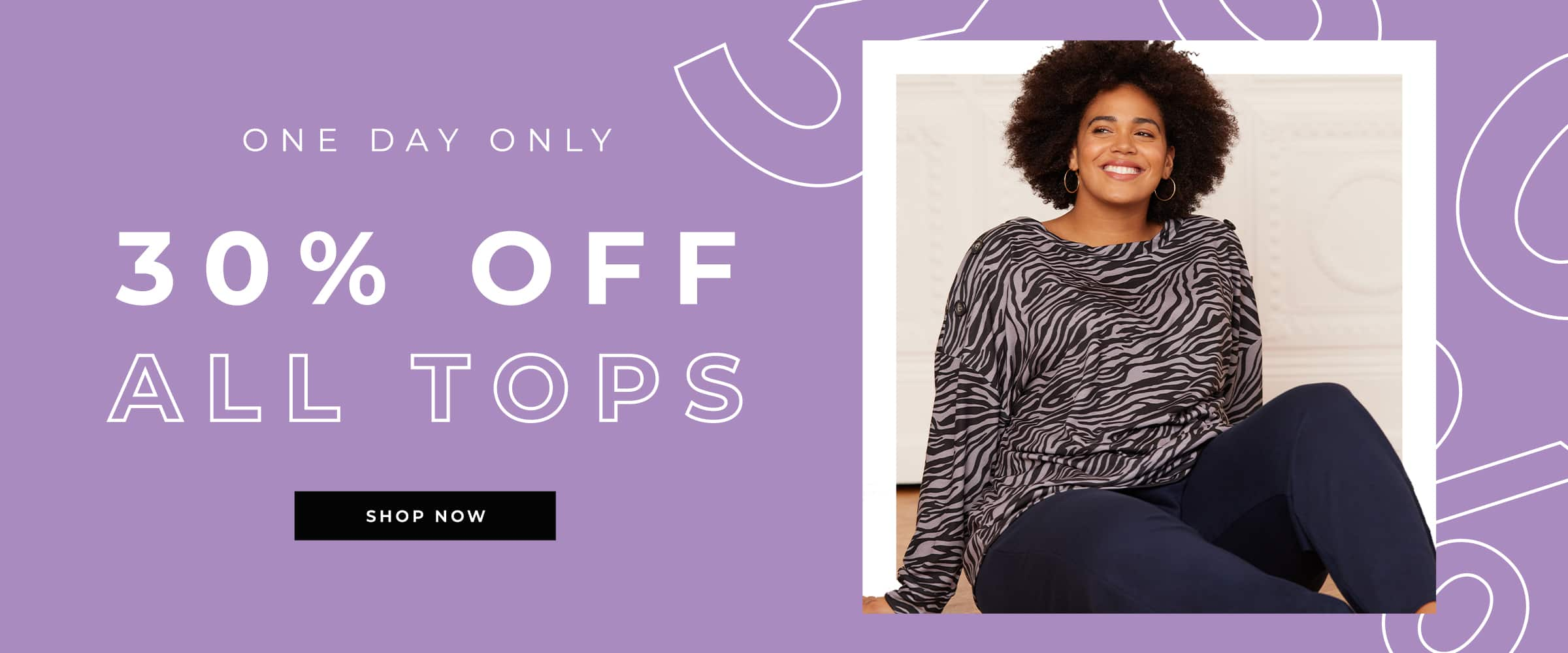 Evans Clothing: 30% off plus size ladies tops