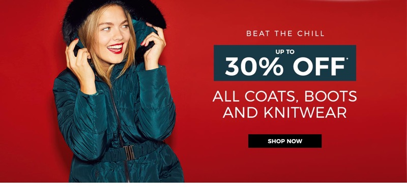 Evans Clothing Evans Clothing: 30% off coats, boots and knitwear