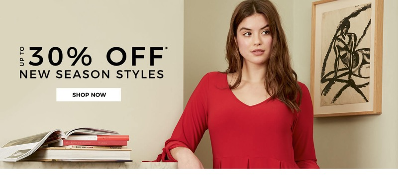 Evans Clothing Evans Clothing: up to 30% off plus size fashion