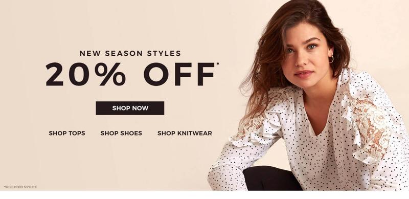 Evans Clothing Evans Clothing: 20% off new season styles