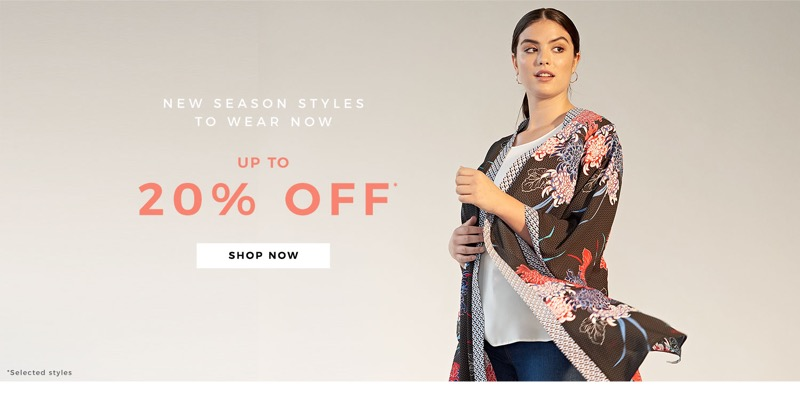 Evans Clothing Evans Clothing: up to 20% off plus size clothing