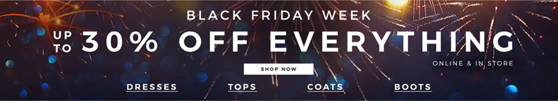 Evans Clothing Black Friday Week Evans Clothing: up to 30% off everything