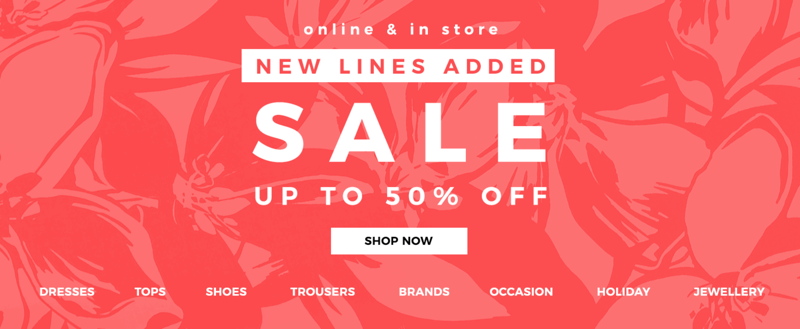 Evans Clothing Evans Clothing: Sale up to 50% off plus size clothing