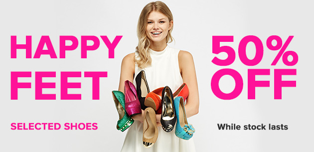 Everything 5 Pounds Everything 5 Pounds: 50% off selected heels, trainers, boots, flats and sandals