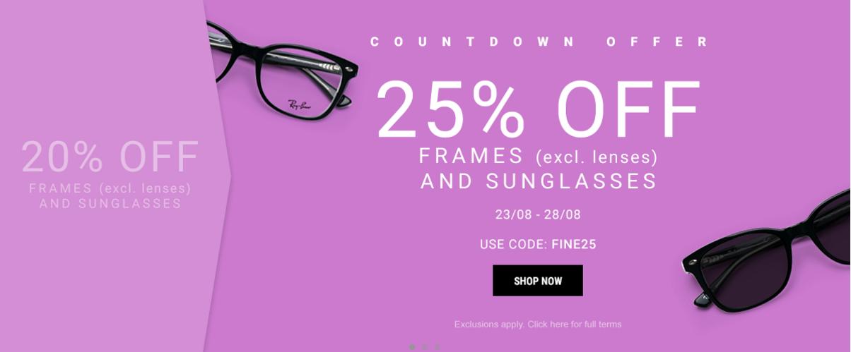 Eyewearbrands.com Eyewearbrands.com: 25% off frames and sunglasses
