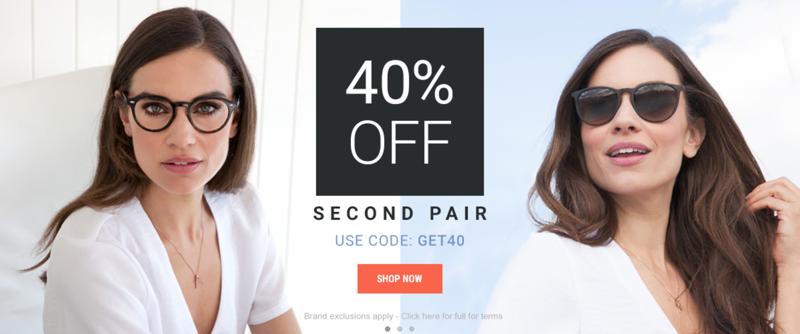 Eyewearbrands.com Eyewearbrands.com: 40% off second pair of frames