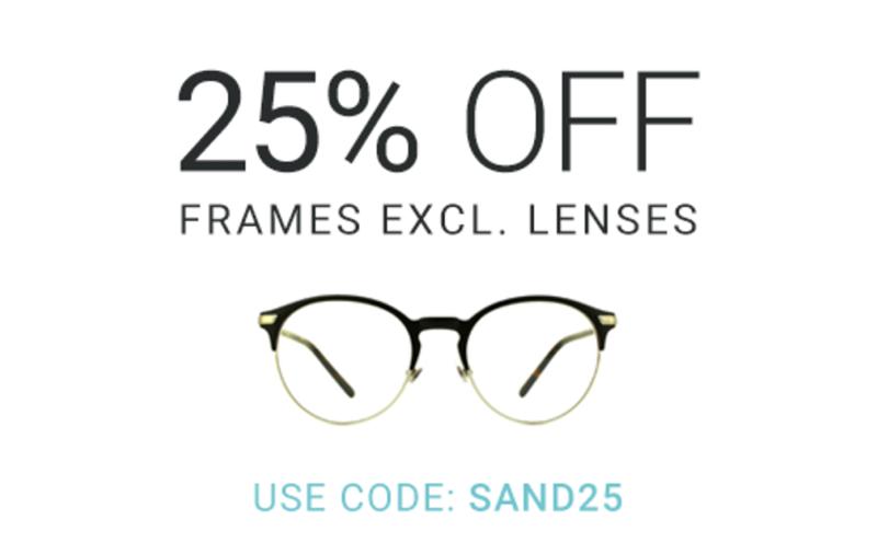 Eyewearbrands.com Eyewearbrands.com: 25% off frames