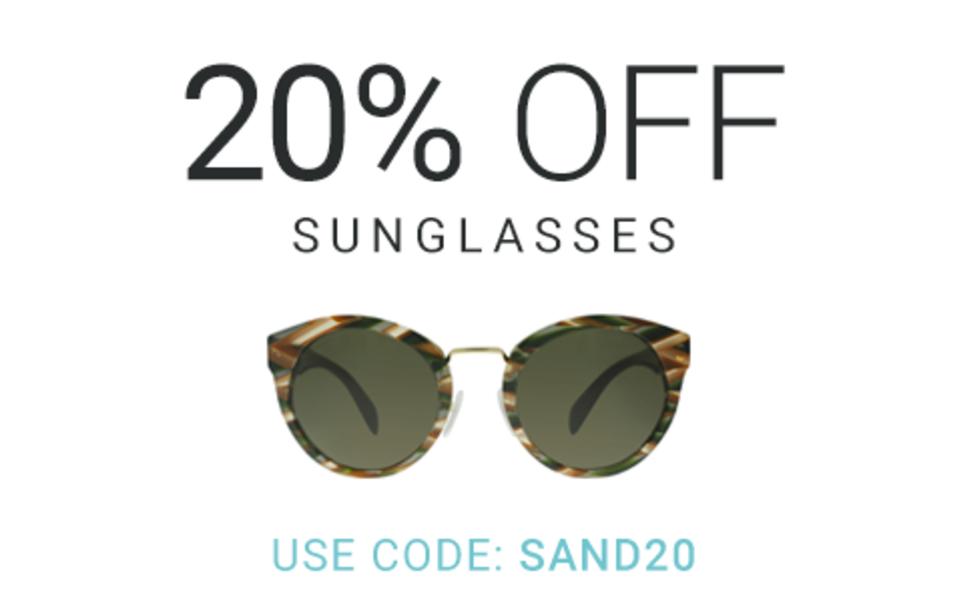 Eyewearbrands.com Eyewearbrands.com: 20% off sunglasses