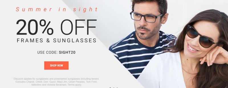 Eyewearbrands.com Eyewearbrands.com: 20% off frames & sunglasses