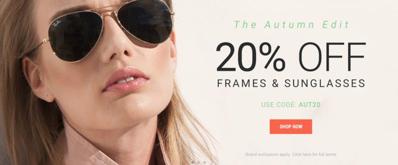 Eyewearbrands.com: 20% off frames & sunglasses