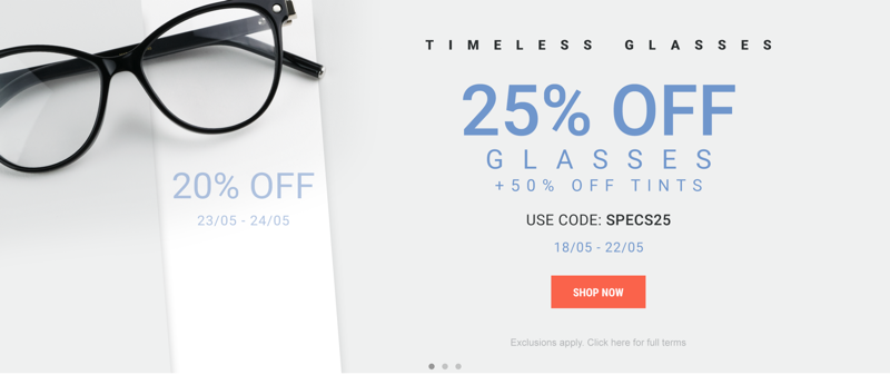Eyewearbrands.com: 25% off glasses