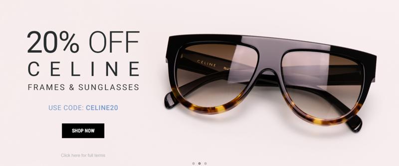 Eyewearbrands.com Eyewearbrands.com: 20% off Celine frames & sunglasses