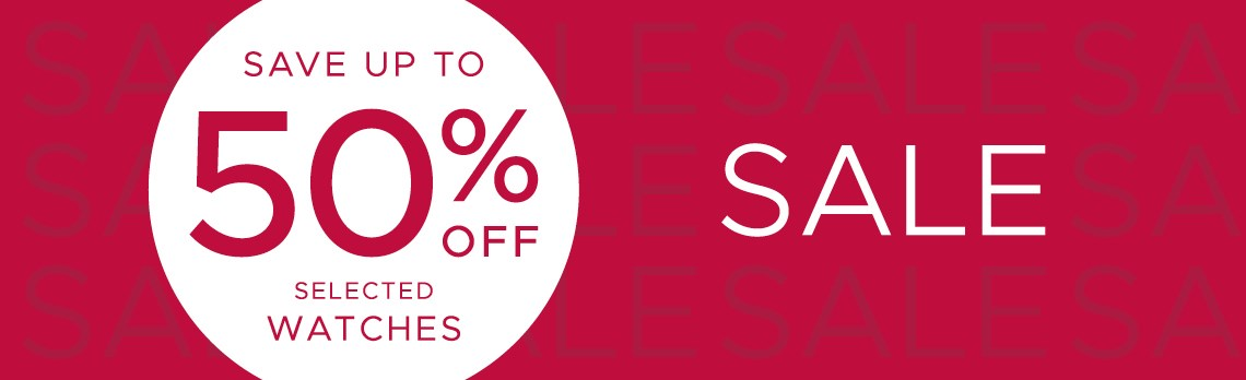 F.Hinds Jewellers F.Hinds Jewellers: Sale up to 50% off selected watches