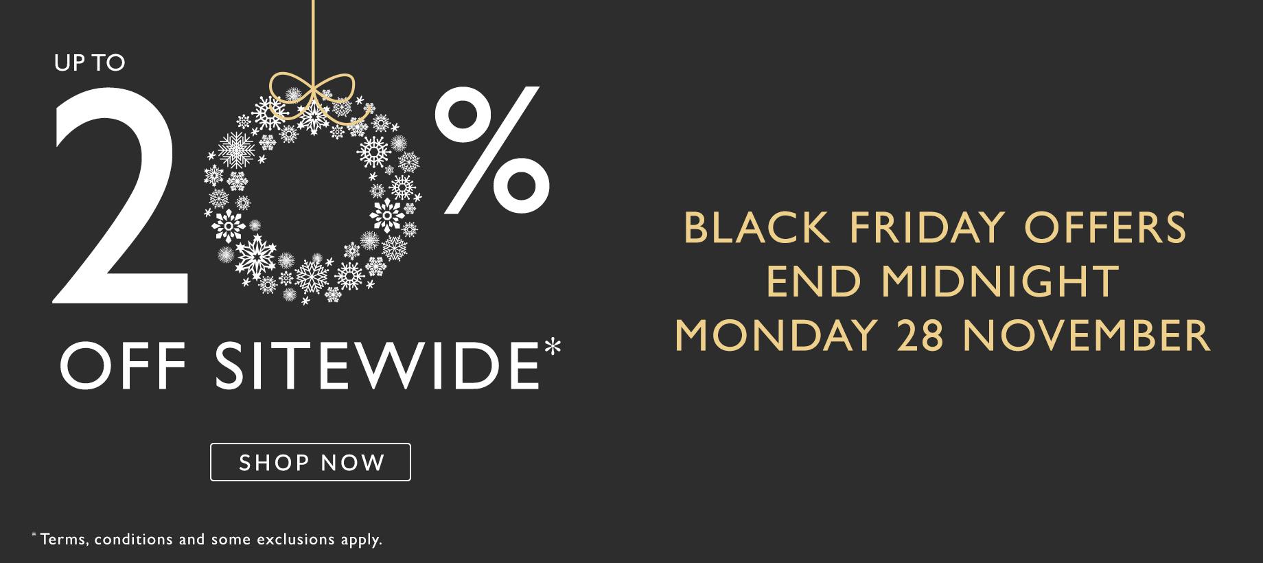 Black Friday Fields: 20% off jewellery
