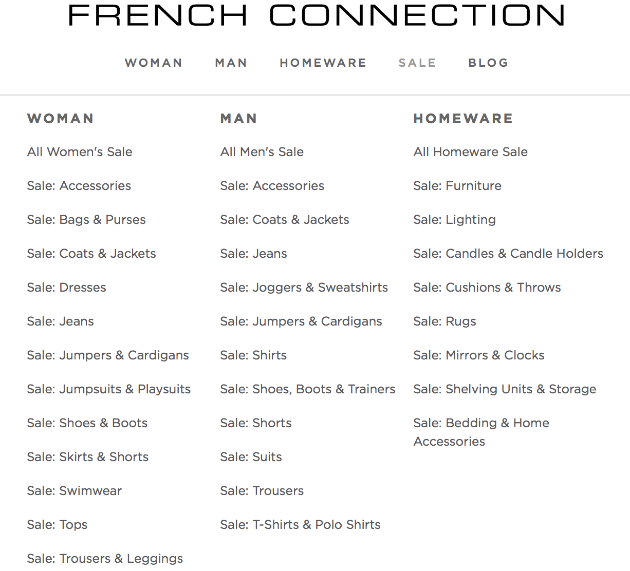 French Connection: Sale up to 50% off clothing, accessories and homeware