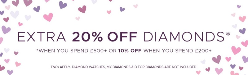 F.Hinds Jewellers F.Hinds Jewellers: up to 20% off diamonds