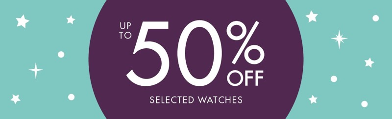 F.Hinds Jewellers F.Hinds Jewellers: up to 50% off selected watches