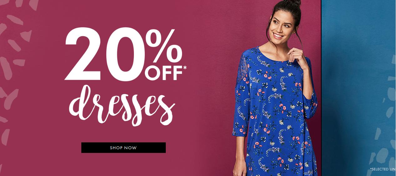 Fashion World: 20% off dresses