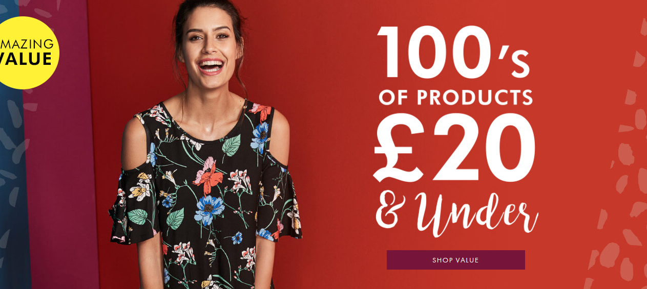 Fashion World: 100's of products £20 and under
