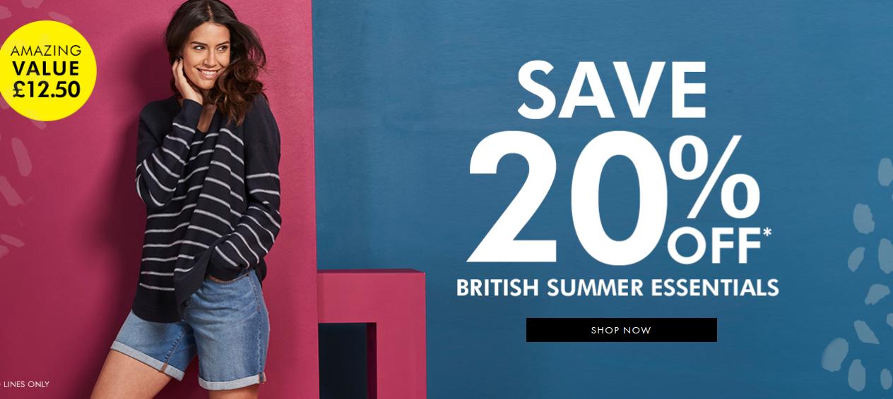 Fashion World: 20% off british summer essentials
