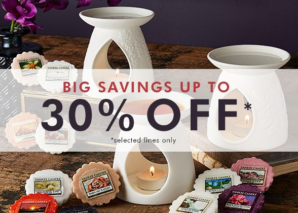 Fashion World: up to 30% off Yankee Candles