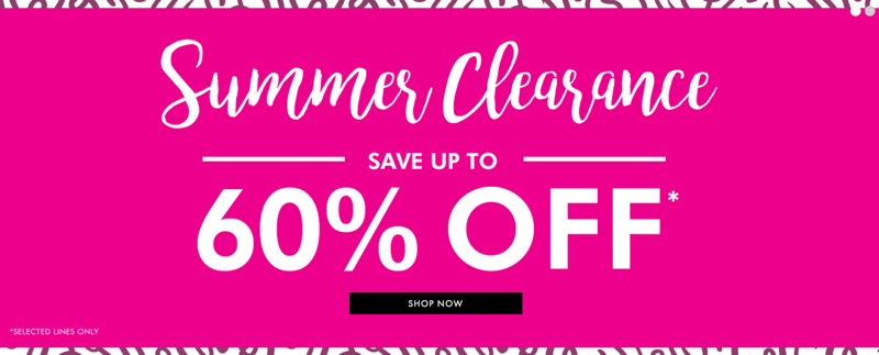 Fashion World: Summer Clearance up to 60% off plus size clothing