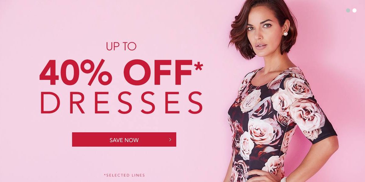 Fifty Plus: up to 40% off dresses
