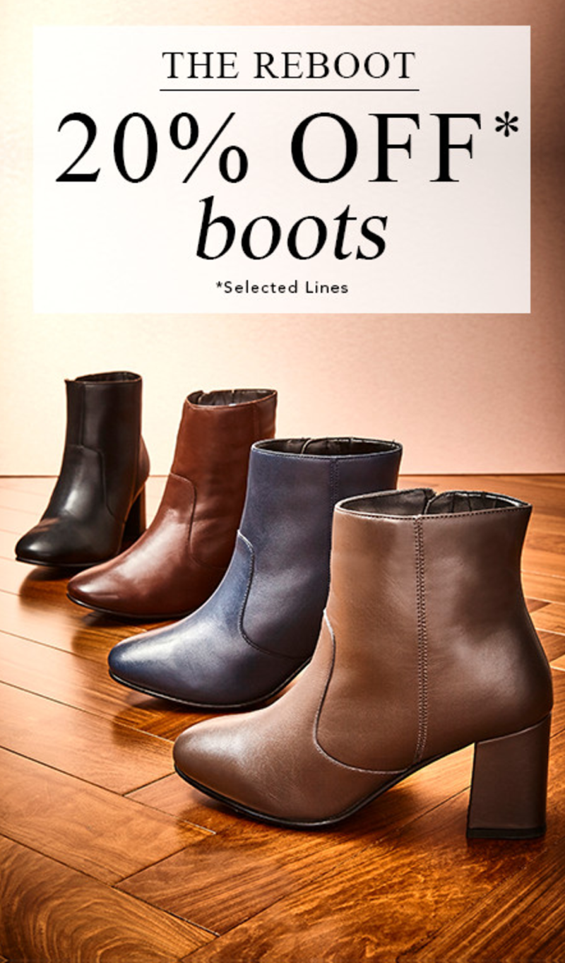 Fifty Plus: 20% off boots