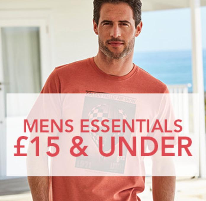 Fifty Plus: mens essentials £15 & under