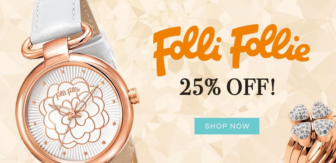 Bella Mia Boutique: 25% off Folli Follie Jewellery