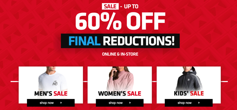 Footasylum: Sale up to 60% off clothing, footwear & accessories