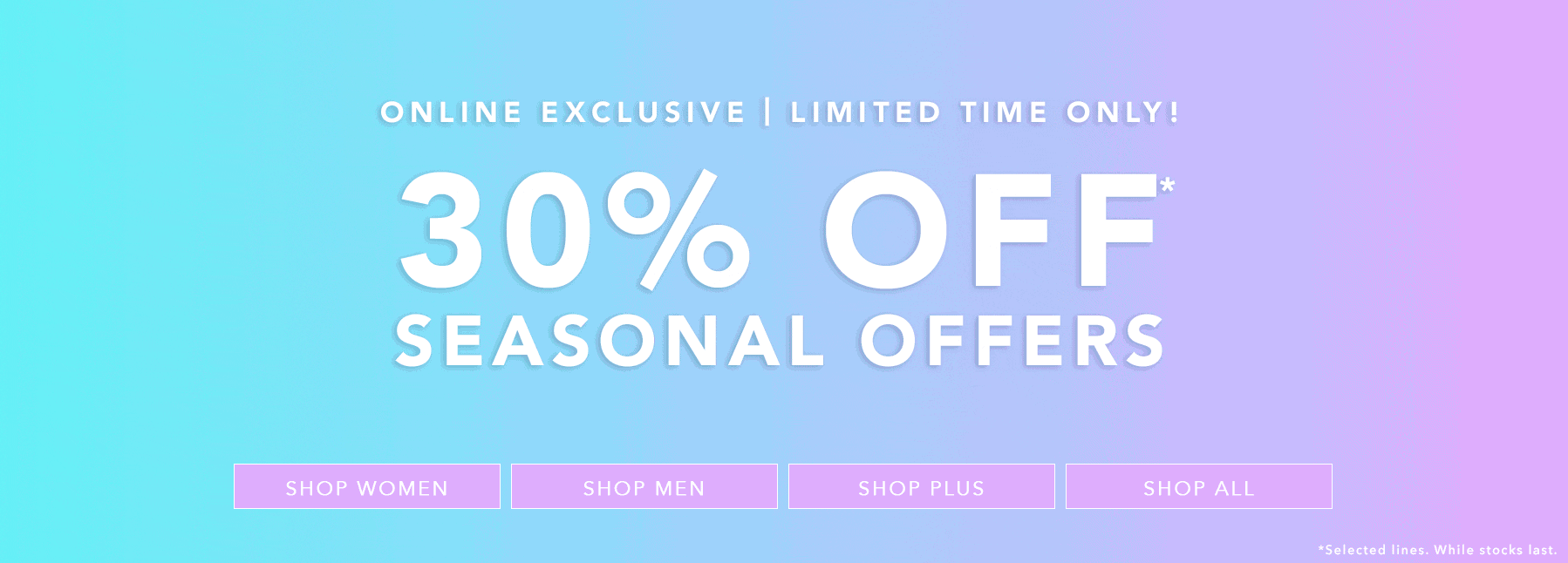 Forever 21: 30% off seasonal offers
