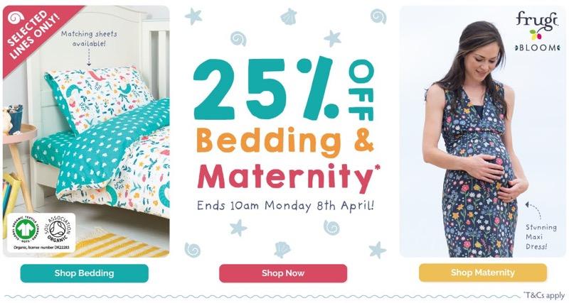 Frugi: 25% off bedding designs & maternity styles