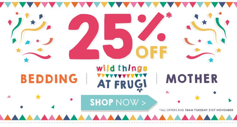 Frugi Frugi: 25% off kids clothing and bedding