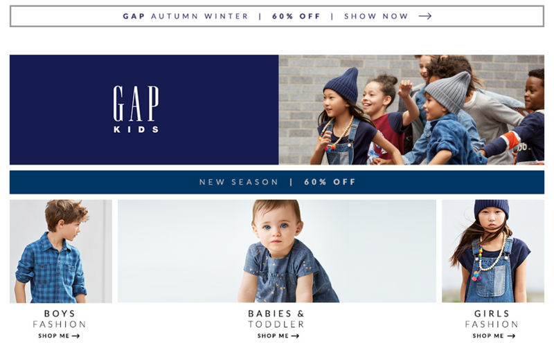 AlexandAlexa: 60% off GAP kids clothes