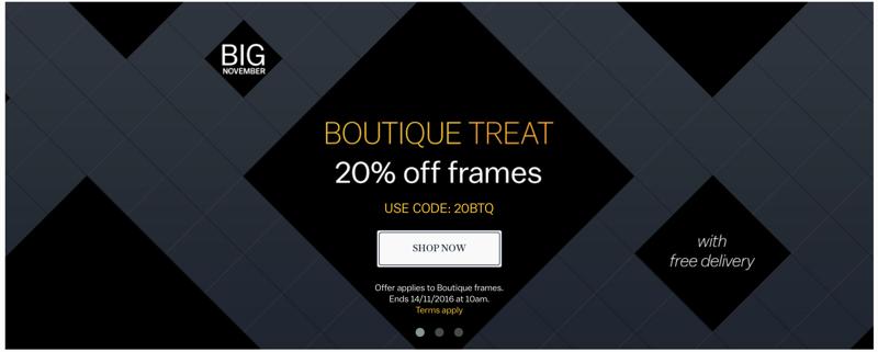 Glasses Direct: 20% off frames