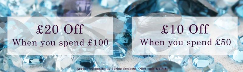 Gemondo Jewellery Gemondo Jewellery: £20 off when you spend £100, £10 off when you spend £50