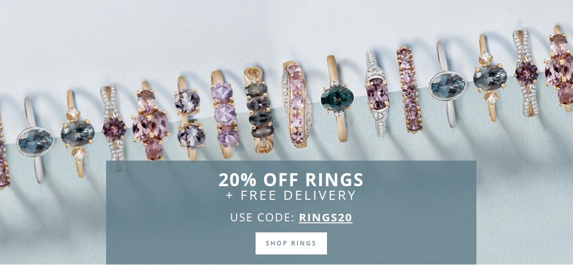 Gemporia: 20% off rings