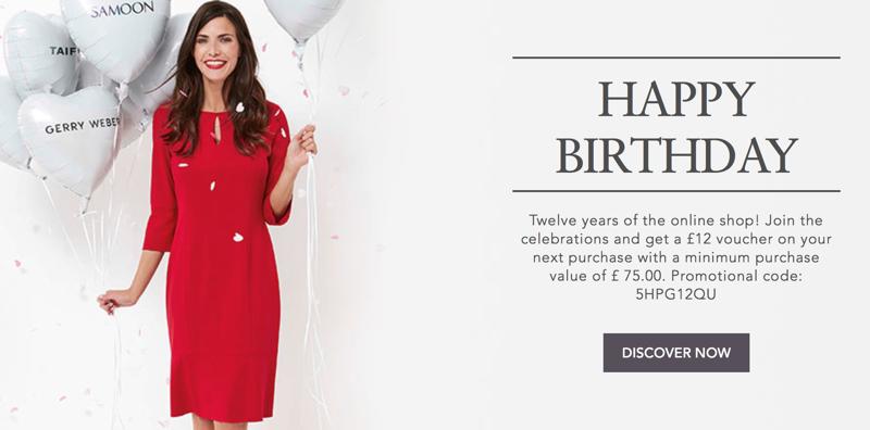 Gerry Weber: get a £12 voucher on women's fashion