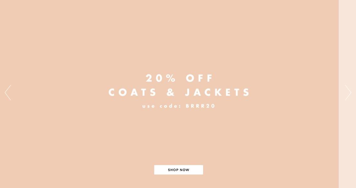 Glamorous: 20% off coats & jackets