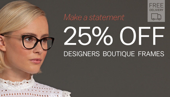 Glasses Direct: 25% off designers boutique frames