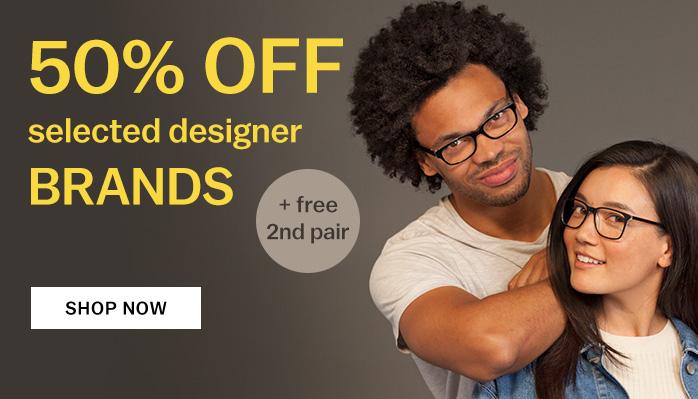 Glasses Direct: 50% off designer frames